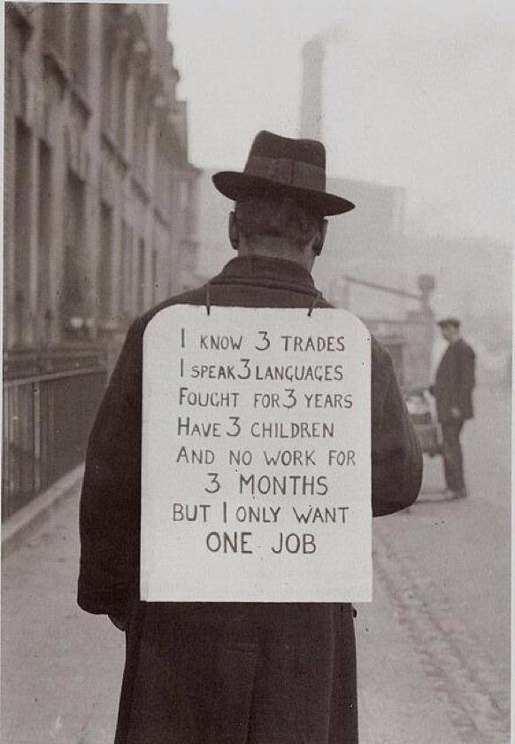 Finding a job in the 30's